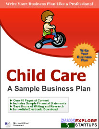 Child care center business planexplore startups explore startups child care center business plan flashek
